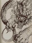 Dragon sketch by Tokyozilla
