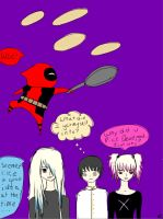 Deadpool Mania with Japan and the Radley Twins by JinAlike