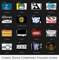 Comic Company Folder Icons by ESeph