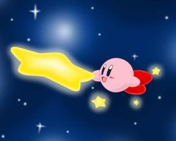 Warpstar Kirby by Eniotna