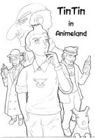 Tintin In Animeland by xiphosis