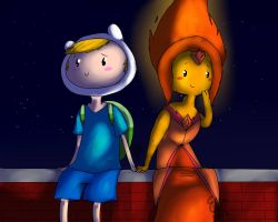 Flame Princess X Finn by Fluttertroll