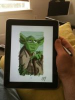 iPad Yoda by OtisFrampton