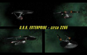 U.S.S. Enterprise - circa 2265 by DarkFoundation