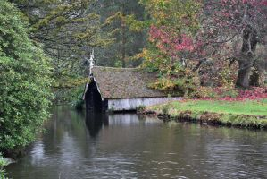 DSC 0038 Timber Boathouse by wintersmagicstock