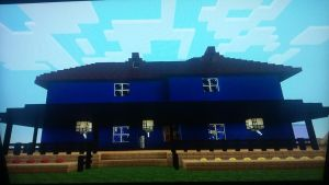 Minecraft 2 story house with city texture by Zaktheelf
