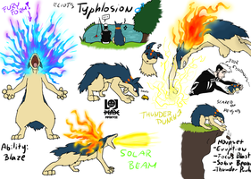 Eliot's Typhlosion Concept Art by Hlontro