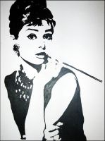 Audrey Hepburn 3 by bulletinthegun