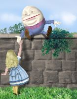 Alice and Humpty Dumpty by jadens-dad