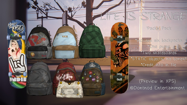 LiS - Backpack Pack by angelic-noir