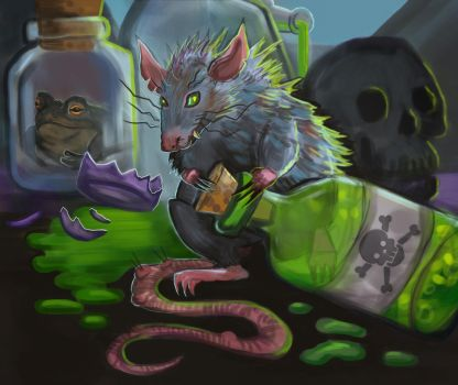 Apothecary Pet by Cinder-Cat