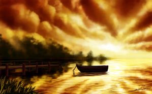 Speed paint: Boat by bkiani
