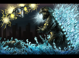 Godzilla Vs Garuda by Warriorking4ever