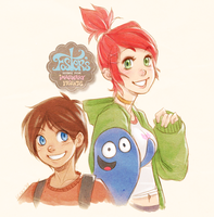 Mac, Frankie, and Bloo by lexxercise