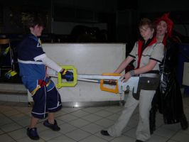 Roxas, Sora... and Axel again by KellyJane