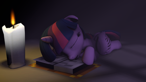 Late Night Studying by LunicAura106
