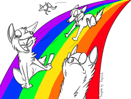 Rainbow Slide Template Shaded by CelticPup