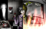 Phone guy / Purple guy and Springtrap + speedpaint by Any1995