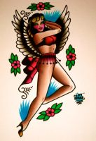 winged lady... by xveganmafiax