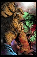Thing Vs Hulk by hanzozuken