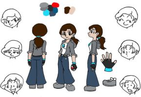 Model Sheet- JC by Da-Wabbit