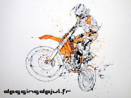 Musquin flying by dessinsdejul