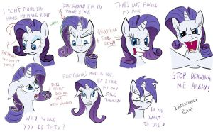 Expression Practice with Rarity by NotaPseudonym