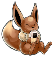 Rice Ball Eevee by GlassPanda