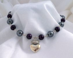 Visual Kei Heart Necklace: Hatatose Collection by DarkFireRaven