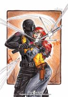 Snake Eyes 'n' Scarlett by k-tiraam