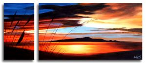 Gold Fusion Over Kapiti by karlandrews