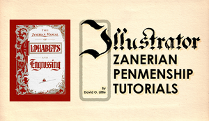 Illustrator Zanerian Penmenship Title Card by TheDoLittle