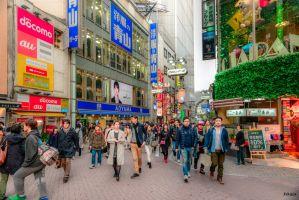 Afternoon in Shibuya - Tokyo by Rikitza