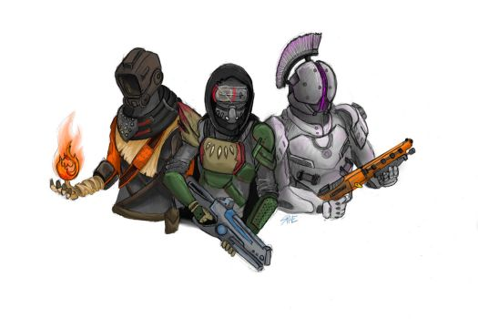 Destiny Characters by 123shaneb