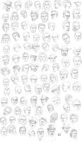 the 200th head sketches by M053AB