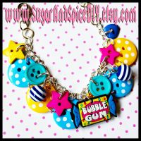 Bubble Gum Button Bracelet by SugarAndSpiceDIY