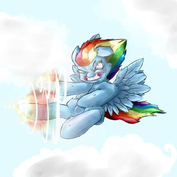 Sonic rainboom death kick of death by AngelWing314