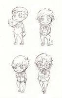 The Big Bang Theory Chibi sket by XMenouX