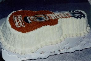 Guitar cream cake by LizzyLix