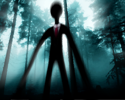 Slender Man in the Woods by eagleoftheninth