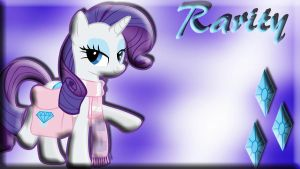 Rarity Wallpaper by schocky