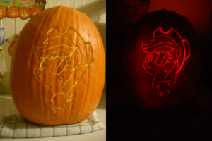 Applejack - o' - Lantern by Puppetkamon