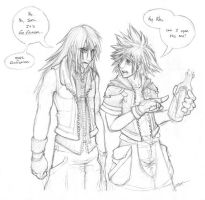 .02 letter - Riku and Sora by zankara