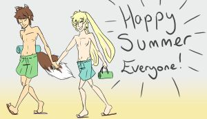 Happy Summer from Oli and Liam by fruits-basket-head