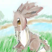 Old Eevee picture by maximumm