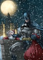 Batman X-mas Colored by RudyVasquez