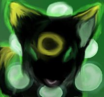 Neon Wolf  ghost thing 0.o? by AkitaHaru