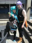 me as Trunks and Miku Hatsune by MrL3821
