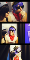 2D and Cyborg in Photobooth by aisu-isme