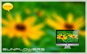 Sunflowers Wallpaper by SpiceBoy-Deviant